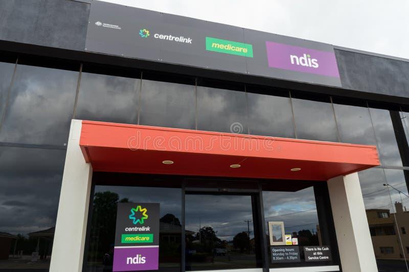 Centrelink、医疗保障和NDIS办公室在阿勒山在澳大利亚 图库摄影