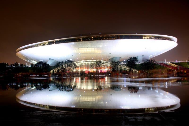 centrera den kulturexposhanghai världen royaltyfri bild