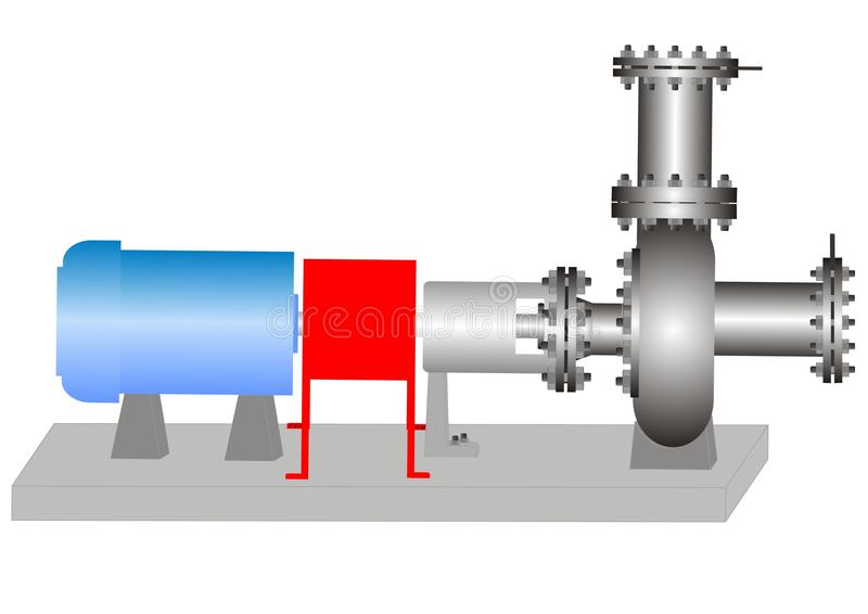 centrifugal pump royaltyfri illustrationer