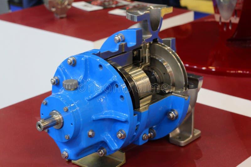 Centrifugal pump med magnetdrev Pumpen visas i avsnitt royaltyfria bilder