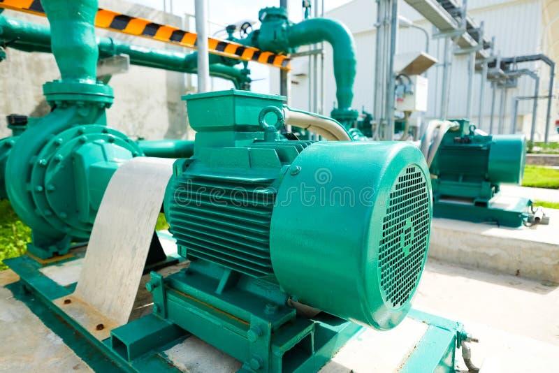Centrifugal pump och motor royaltyfri fotografi