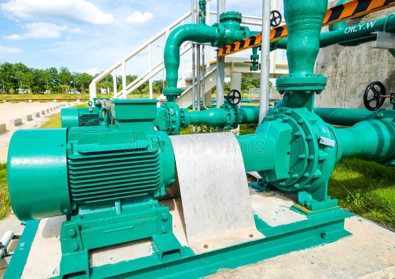 Centrifugal pump och motor royaltyfria foton