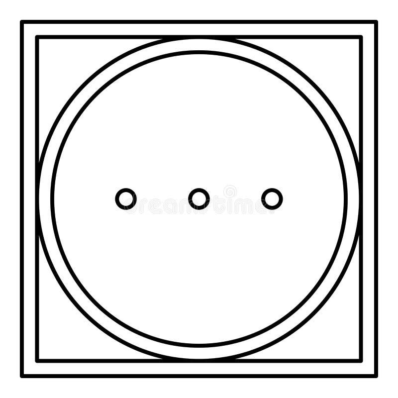 Centrifugando nel modo ad alta temperatura della macchina copre il vettore nero di colore del profilo dell'icona del segno della  illustrazione vettoriale