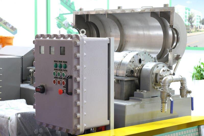 Centrifugeuse industrielle pour la boue de nettoyage Purification de l'eau incapable industrielle photo stock