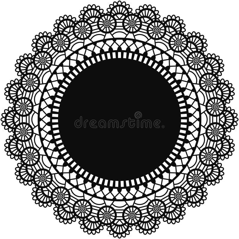 Centrino nero del pizzo illustrazione di stock