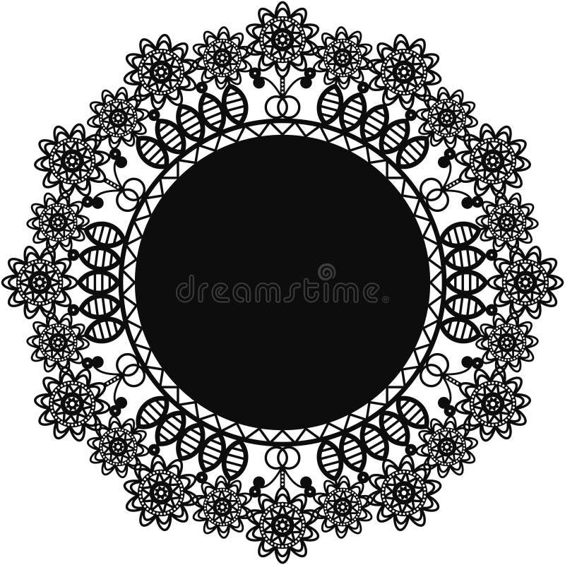 Centrino nero del pizzo illustrazione vettoriale