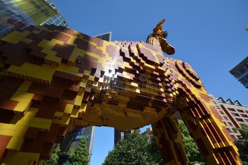 Centro Berlino di scoperta di Legoland al quadrato di Potsdam, Potsdamer Platz, Germania fotografia stock libera da diritti