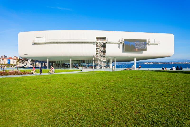 Centro Botin Center in Santander. SANTANDER, SPAIN - SEPTEMBER 26, 2017: Centro Botin or Botin Center is a cultural facility building located in Santander, Spain royalty free stock photo