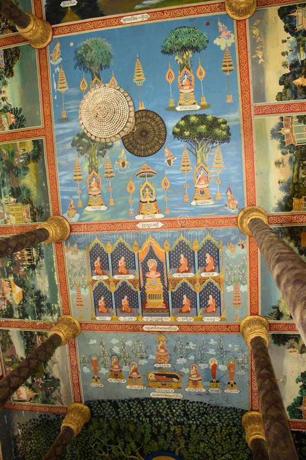 Centro budista cambojano fotografia de stock royalty free