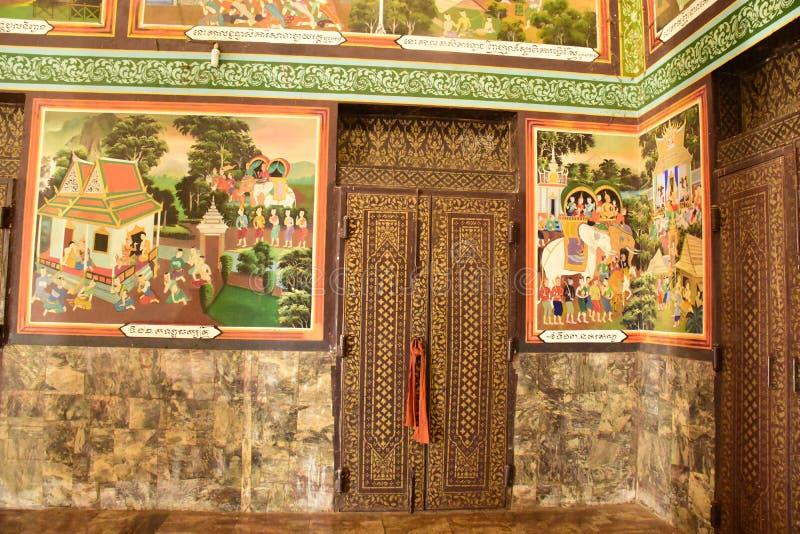 Centro budista cambojano imagem de stock royalty free
