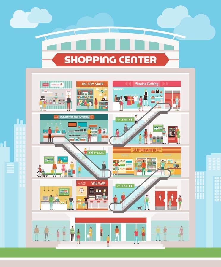 Centro comercial stock de ilustración