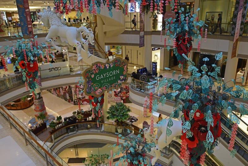 Centro comercial de Gaysorn en Bangkok en el área de Ratchaprasong con el un montón de tiendas internacionales de lujo de la marc fotos de archivo libres de regalías