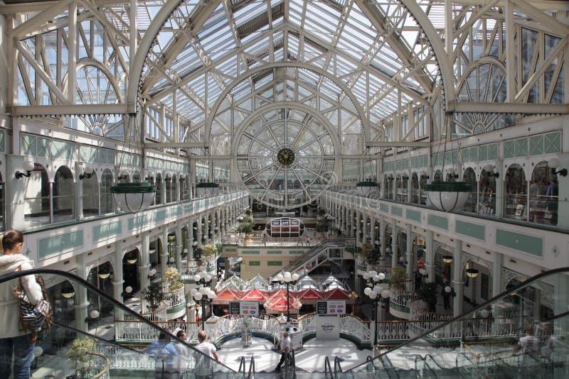 Centro comercial del centro verde de Stephen fotografía de archivo libre de regalías