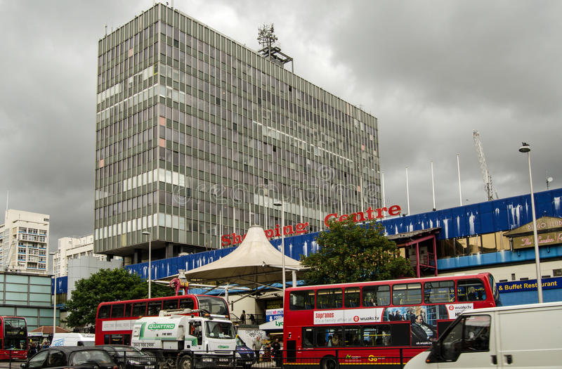 Centro comercial del elefante y del castillo imagen de archivo