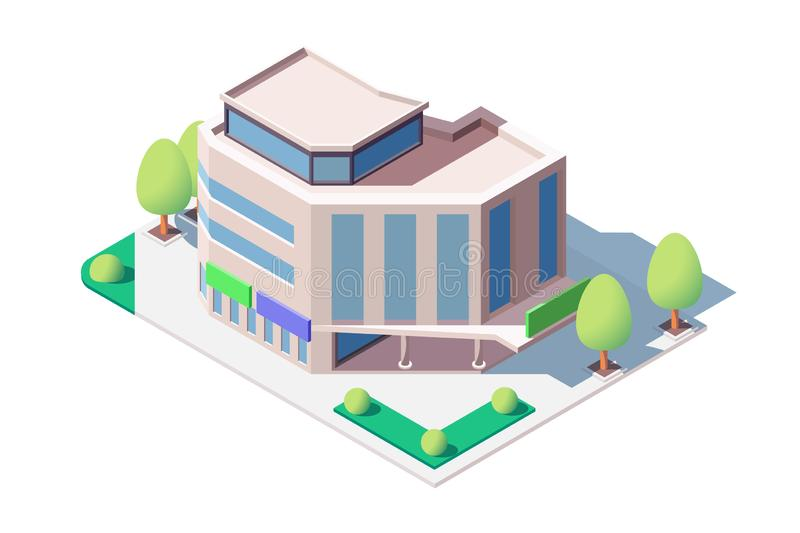 Centro comercial moderno ilustración del vector