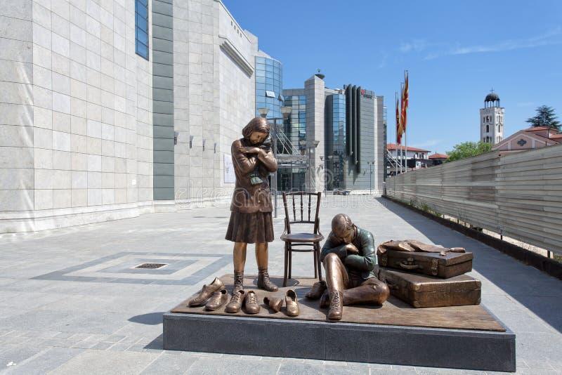 Centro commemorativo di olocausto per gli ebrei della Macedonia, Skopje immagini stock