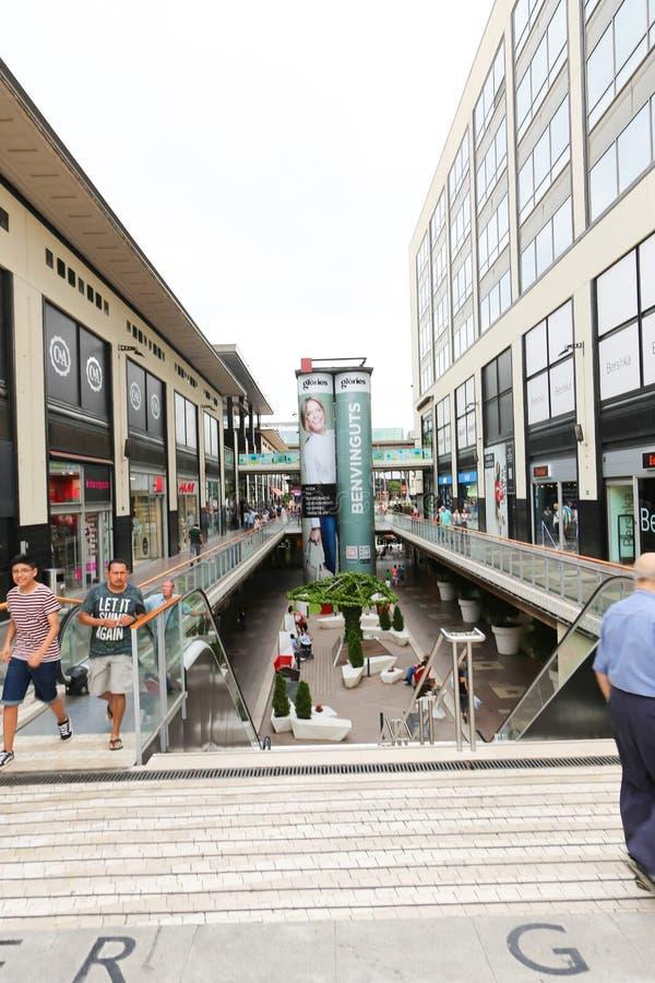 Centro commerciale - Barcellona, Spagna fotografie stock