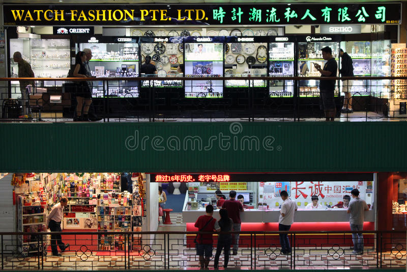 Centro commerciale cinese Singapore immagini stock