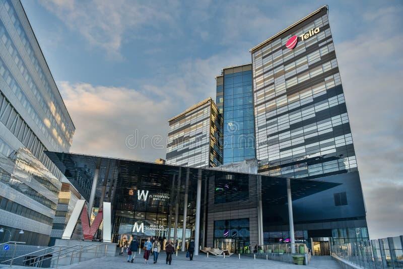 Centro commerciale del centro commerciale della Scandinavia in Solna, Svezia fotografie stock