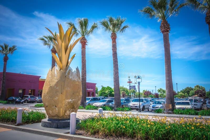 Centro commerciale del centro commerciale in San Jose California immagini stock libere da diritti