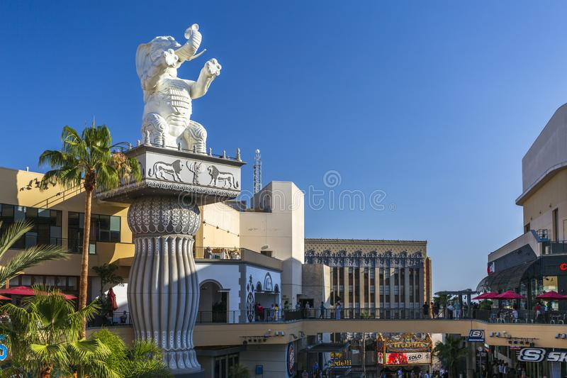 Centro commerciale dell'altopiano & di Hollywood, boulevard di Hollywood, Hollywood, Los Angeles, California, Stati Uniti d'Ameri immagini stock libere da diritti