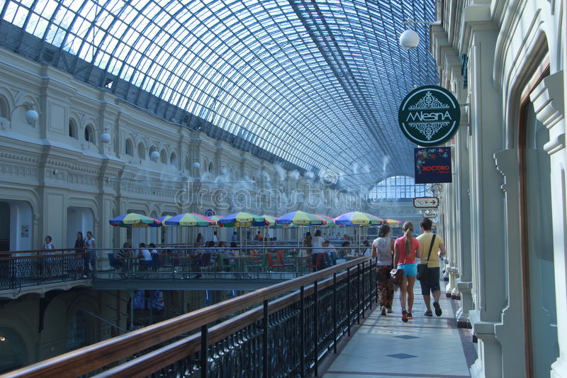 Centro commerciale della GOMMA di Mosca immagini stock libere da diritti