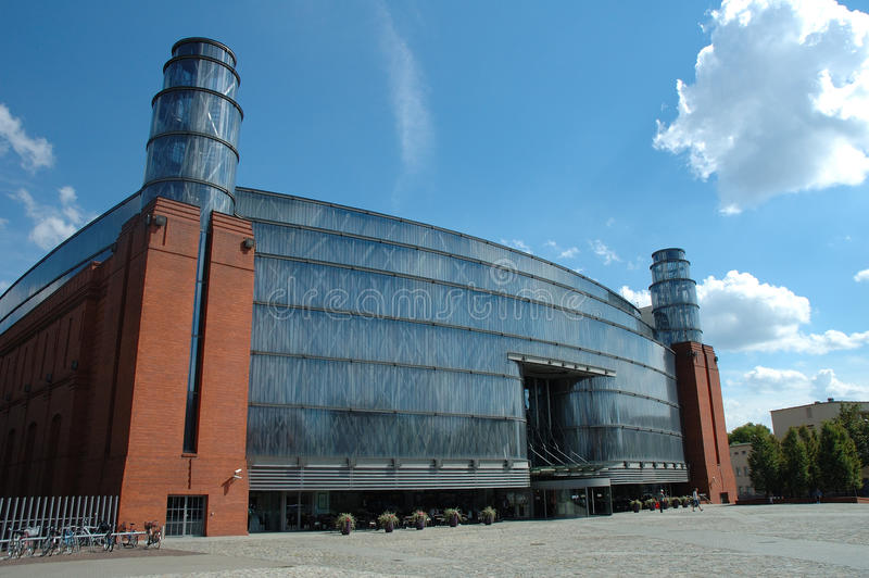 Centro commerciale di Stary Browar a Poznan, Polonia fotografie stock