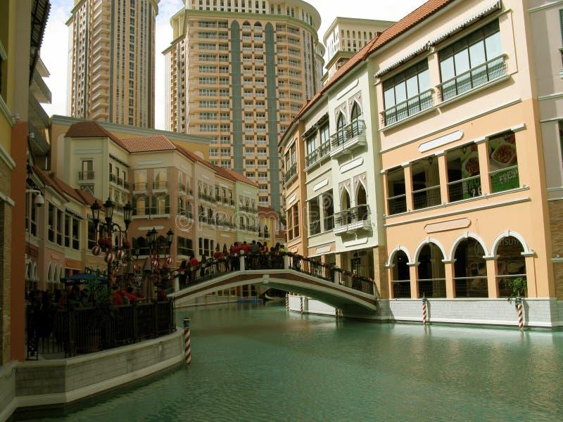Centro commerciale di Venezia Grand Canal, collina di McKinley, Taguig, Filippine immagine stock