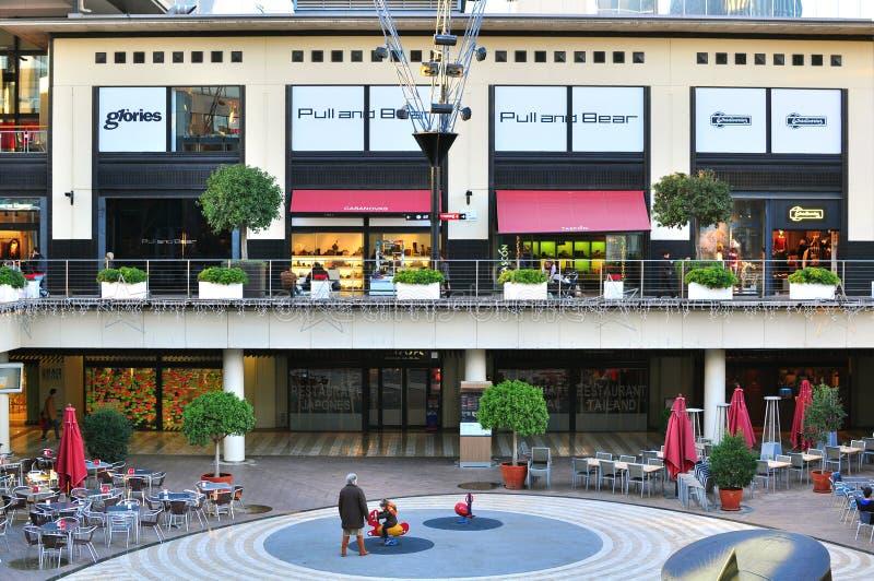 Centro commerciale diagonale a Barcellona, Spagna immagine stock libera da diritti