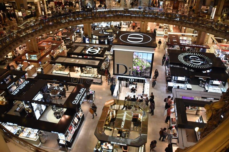 Centro commerciale interno meravigliosamente sistemato fotografia stock libera da diritti