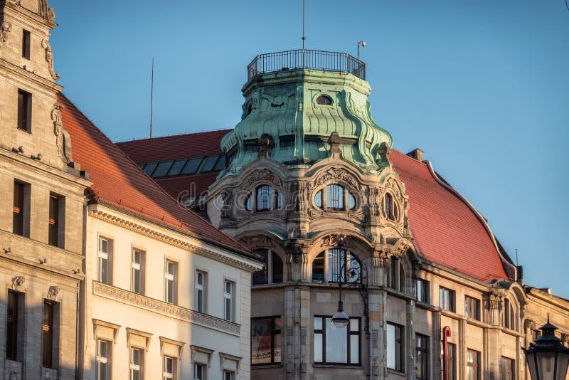 Centro commerciale Max Berg al quadrato i Wroclaw del martket in Pola immagine stock
