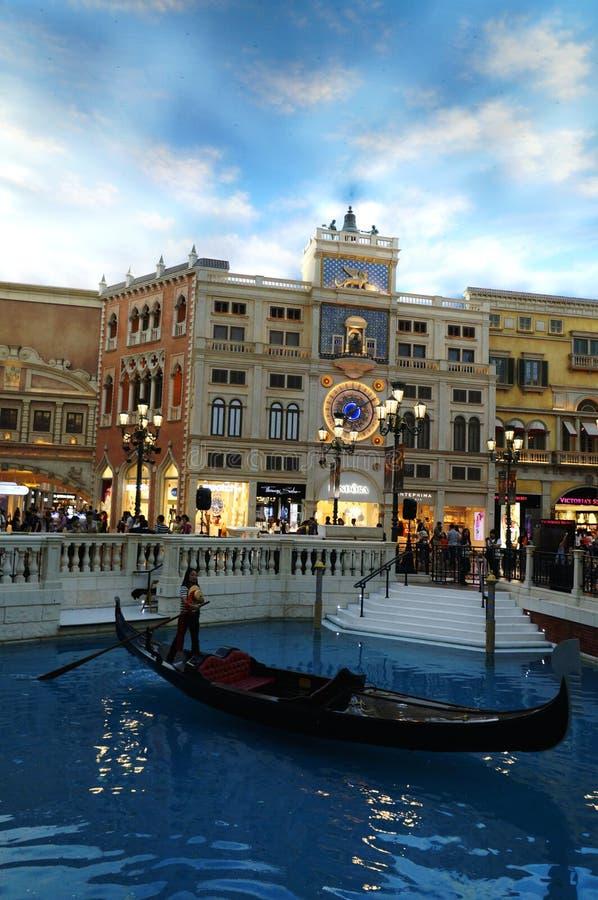 Centro commerciale veneziano di Macao fotografia stock