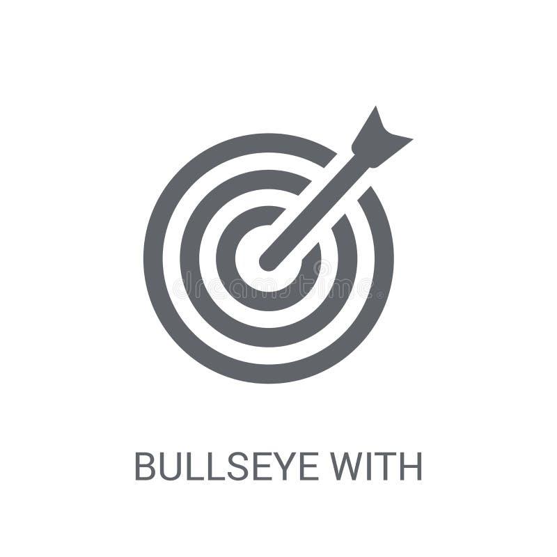 Centro con l'icona di simbolo dell'obiettivo Centro d'avanguardia con l'obiettivo sy illustrazione di stock