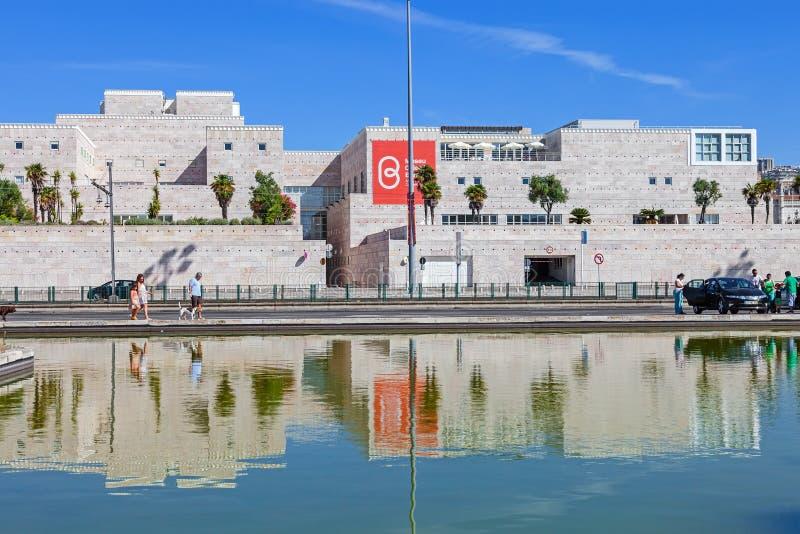 Centro Cultural de Belem Lisbon imagem de stock