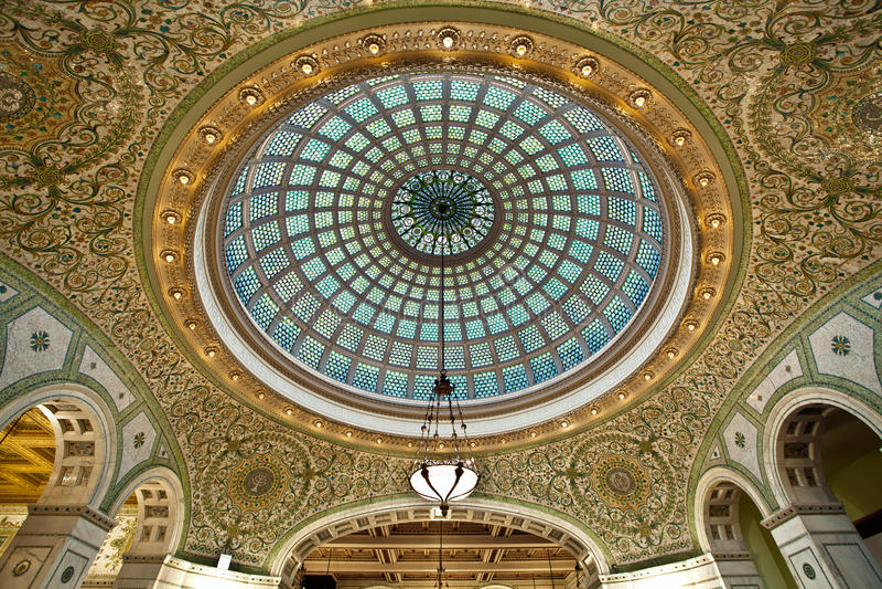 Centro cultural de Chicago. imagen de archivo
