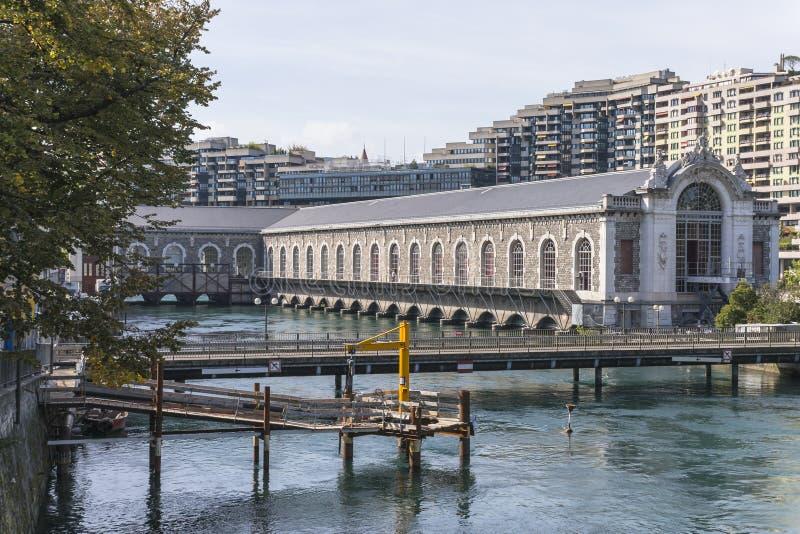 Centro cultural de Genebra imagens de stock