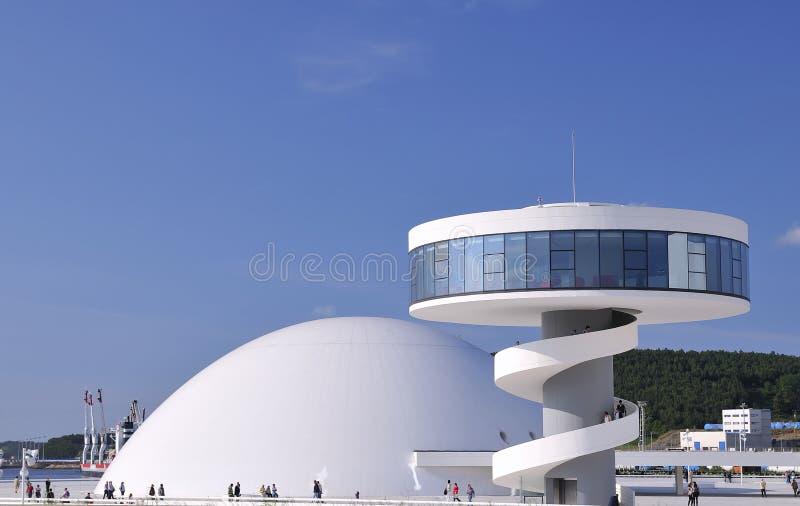 Centro cultural internacional Oscar Niemeyer. imagem de stock royalty free