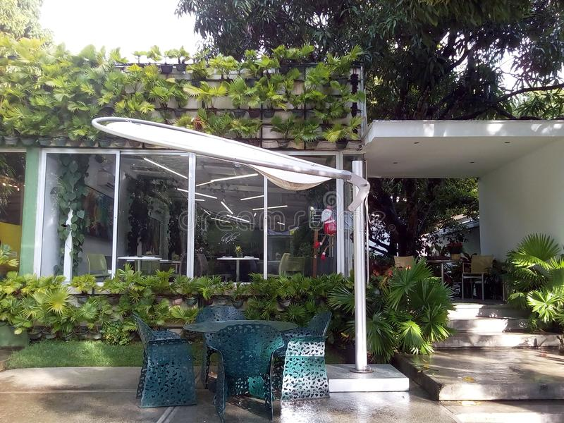 Centro culturale Los Galpones a Caracas, Venezuela fotografia stock