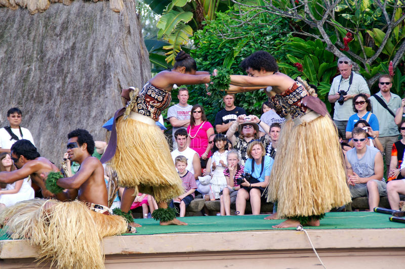 Centro culturale polinesiano immagini stock libere da diritti