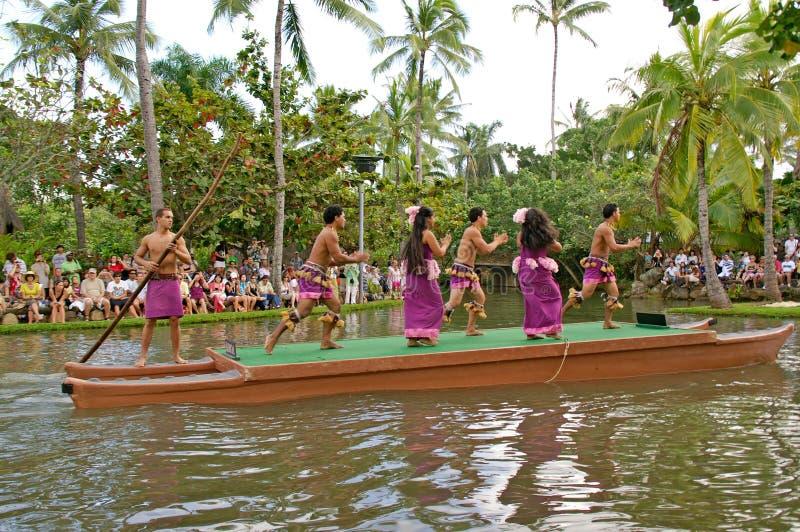 Centro culturale polinesiano immagine stock