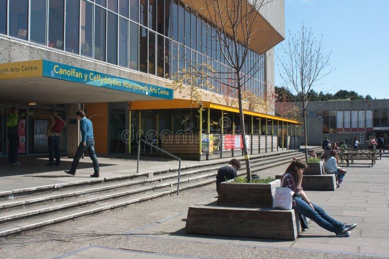 Centro da arte da universidade de Aberystwyth imagens de stock royalty free