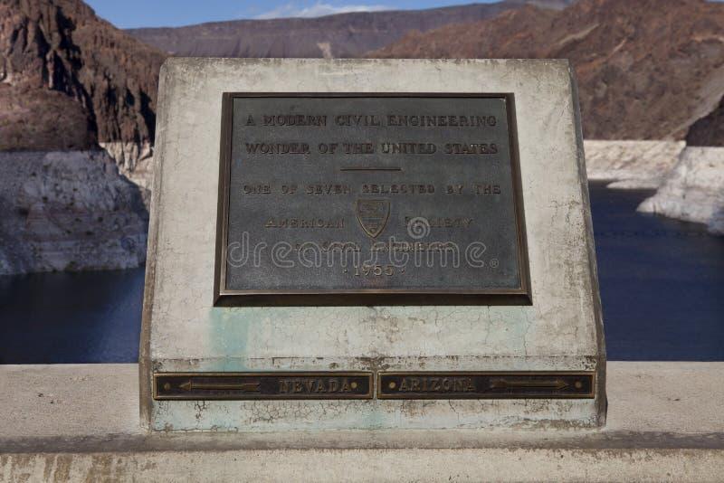 Centro da barragem Hoover fotografia de stock royalty free