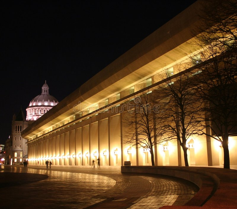 Centro da ciência cristã, Boston, miliampère imagens de stock
