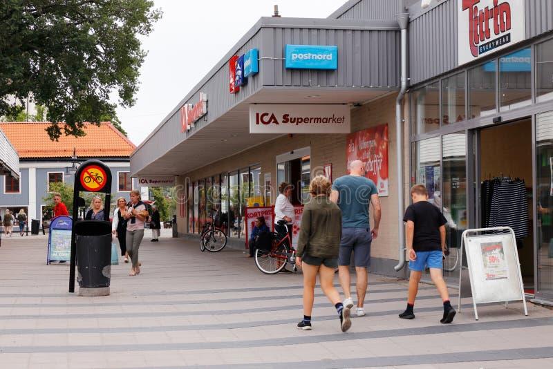 Centro da cidade de Arboga fotografia de stock royalty free