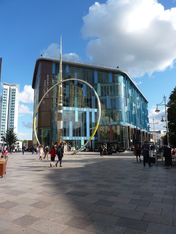 Centro da cidade de Cardiff imagem de stock