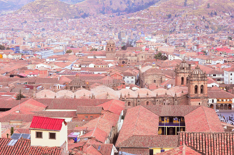Centro da cidade de Cuzco imagem de stock royalty free