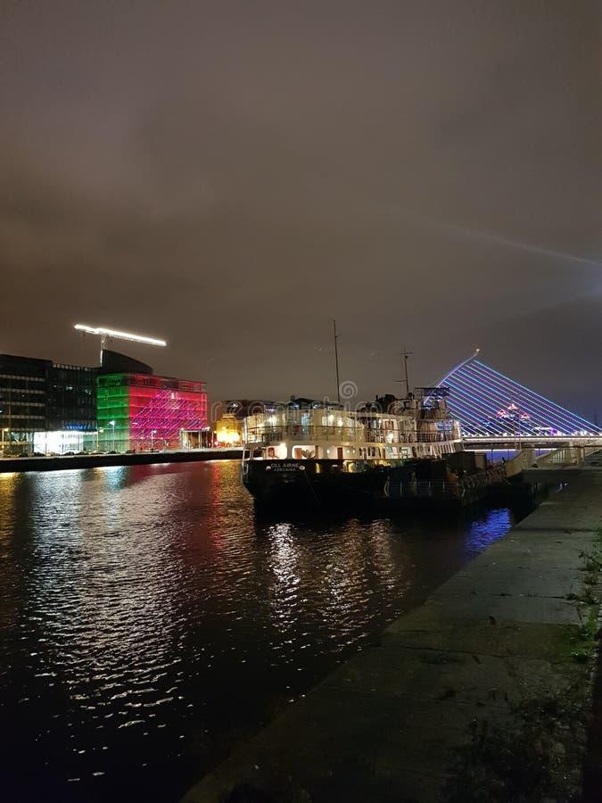 Centro da cidade de Dublin em Year& novo x27; véspera 2018-2019 de s foto de stock