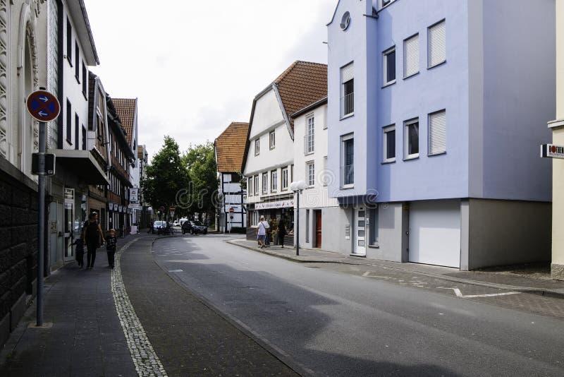 Centro da cidade de Lippstadt em Alemanha fotografia de stock royalty free