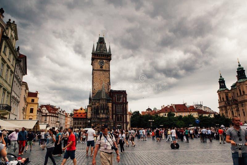 Centro da cidade de Praga fotos de stock royalty free