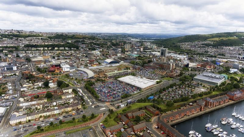 Centro da cidade de Swansea fotografia de stock royalty free